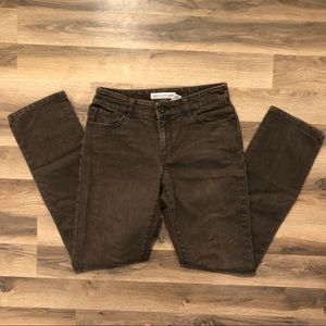 Chico's Brown Straight Leg Jeans